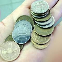 おつり680円が百円玉と十円玉で出てきた。山梨には500円玉と50円玉はないのか。