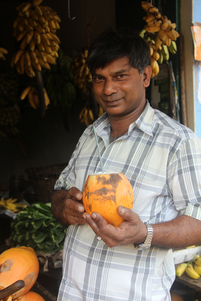 Coconut Vendor, Kandy, Sri Lanka