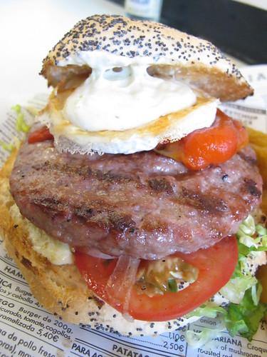 Burgos lamb burger