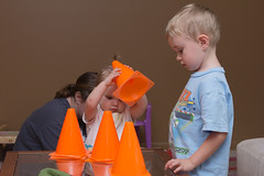 Playing With Cones (Craig Dyni) Tags: birthday boy girl colin toddler sister brother finn madelyn alannah dyni