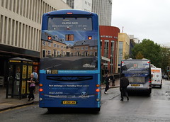 Arriva Midlands North 4202 FJ08LVN Volvo B9TL Wright Eclipse Gemini & TWM 1952 BX10AEM Scania Omnilink (chrisbell50000) Tags: travel homes favorite west bus andy buses mercedes eclipse volvo back birmingham rear north 110 double gale deck