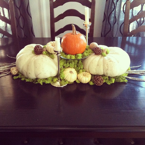 My November table centerpiece... details on the blog