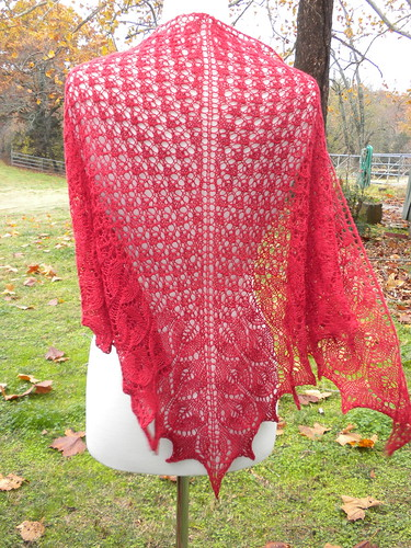 Red Shawl for Robbie