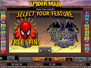 Spiderman bonus game