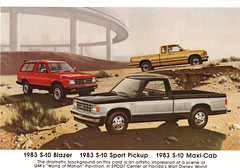 1983 Chevrolet S-10 Blazer, S-10 Sport 4X4 Pickup and S-10 Maxi-Cab (coconv) Tags: pictures auto old 2 art classic cars chevrolet car sport illustration vintage magazine painting advertising cards drive photo flyer automobile post 4x4 image photos drawing antique cab postcard 4 ad picture pickup images advertisement vehicles photographs chevy card photograph postcards vehicle 1983 autos extended collectible collectors suv brochure blazer 83 automobiles s10 dealer prestige wheed maxicab