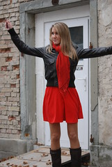 moving (jennymckaysfashionandmusic) Tags: red music brown sunglasses leather fashion lunch king break mckay dress jenny jacket goran stefanovic