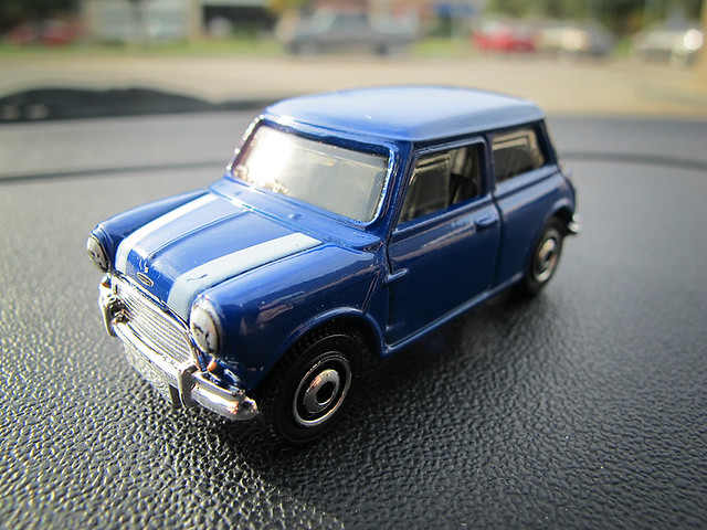 Matchbox Mini Blue - White Stripes