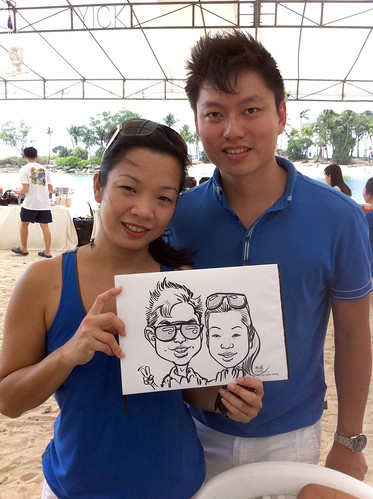 caricature live sketching for LGT Family Day - 1
