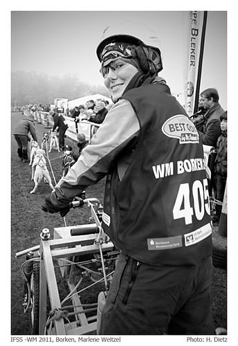 IFSS Schlittenhunde - Canicross - WM 2011, Borken: Marlene Weitzel