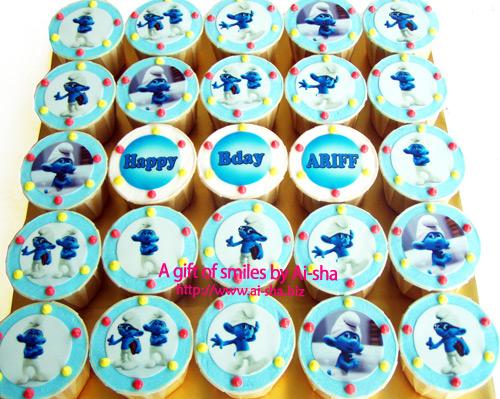 Birthday Cupcakes Edible Image The Smurfs