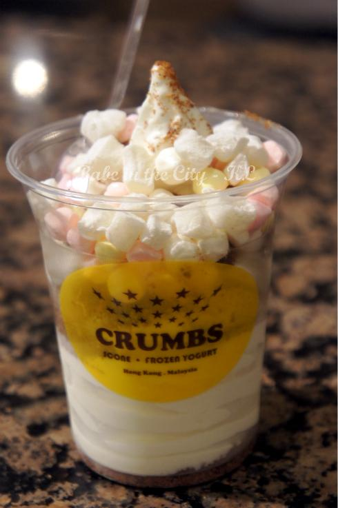 Crumbs Frozen Yoghurt(RM 12.90 - Large with 2 toppings)