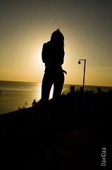 Silhouette Sibo (DextDee) Tags: china morning sun lady sunrise model asia dalian zimbabwe sibo sb900 d5100 dextdee