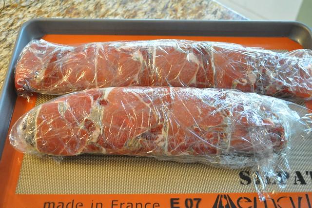 Beef Wellington - Tenderloin Wrapped in Mushroom Duxelles and Jamon Serrano