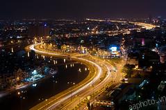 Saigon skyline - Dong Tay avenue (daihocsi [(+84) 918.255.567]) Tags: skyline river tay saigon dong