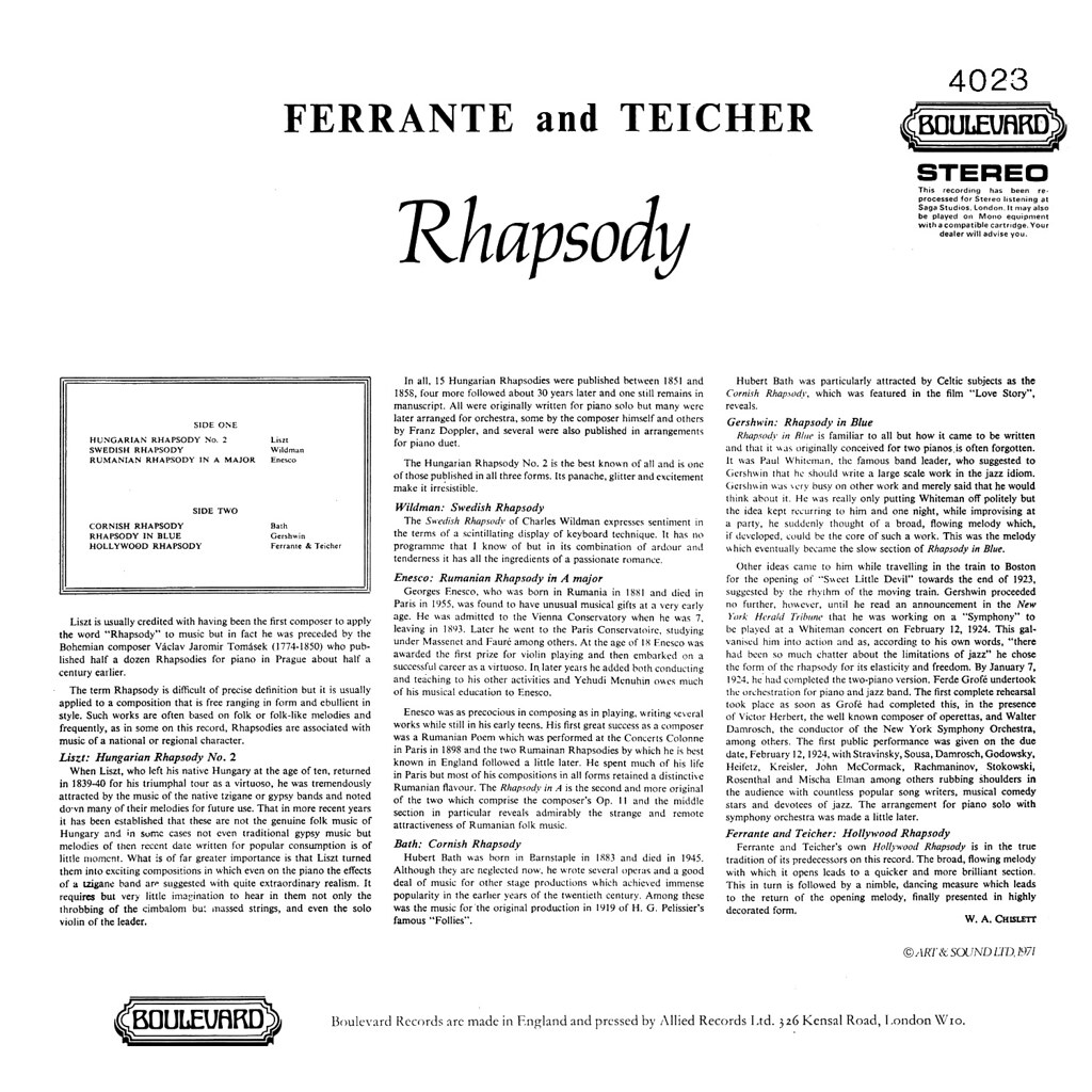 Ferrante & Teicher - Rhapsody