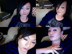 Photo 14 (draGnet ) Tags: portrait selfportrait me collage drunk webcam photobooth transgender isight polyptych missk androgynous quadriptych