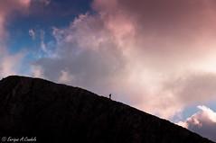 Pedraforca mountain (hunter of moments) Tags: blue light sky naturaleza mountain art luz azul clouds contraluz landscape nikon rosa natura paisaje cielo nubes montaa d5000