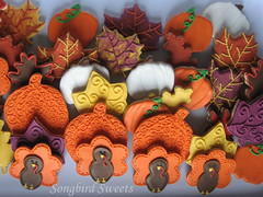 Thanksgiving Platter (Songbird Sweets) Tags: thanksgiving fall leaves pumpkins turkeys sugarcookies songbirdsweets