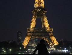 Looking At The Eiffel Tower By Night
