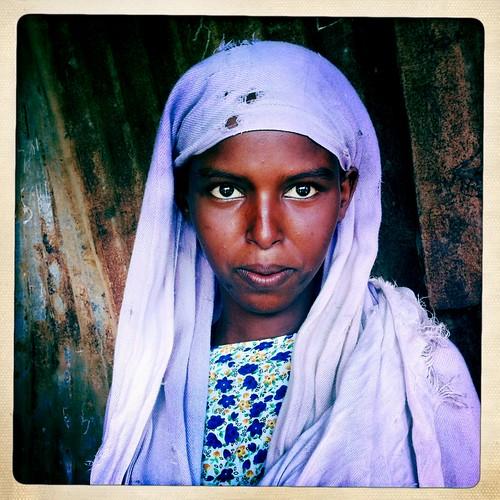 Refugee girl in Lughaye  thru Iphone Hipstamatic Somaliland