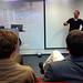 c // The instructor explaining design thinking's mind set
