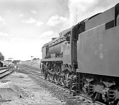 1964: Driver Ernie Harvey (Nige's Place) Tags: uk england europe br britain trains steam engines railways sixties locomotives railroads steamengines britishrailways steamlocomotives newmilton southernregion steaminthesixties