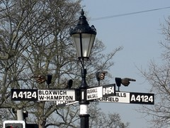Pelsall Norton Road (close up) West Midlands (Bridgemarker Tim) Tags: lichfield brownhills lamplights bloxwich fingerposts