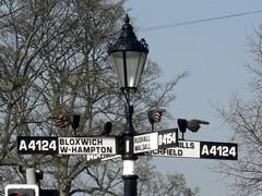 Pelsall Norton Road (close up) West Midlands (Bridgemarker Tim) Tags: lichfield brownhills lamplights bloxwich fingerposts