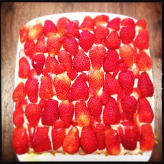 (.  .) Tags: cake phonecam square rainbow sunday strawberries squareformat normal loftus iphoneography hipstamatic instagramapp uploaded:by=instagram iphone4s