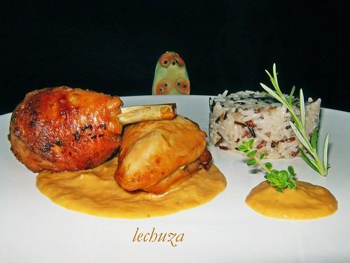 Pollo asado con mostaza-buena