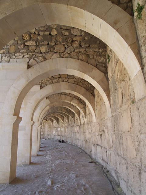 Aspendos高處的環狀拱廊