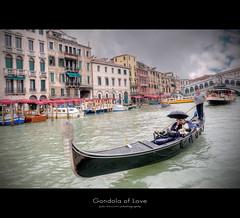 Gondola of Love (gabrielescotto) Tags: trip venice sea sky italy art architecture clouds boat bravo italia mare wilde sigma romantic gondola venezia hdr vacanza canale 10mm photomatix tonemapping gabrielescotto d300s nikond300s
