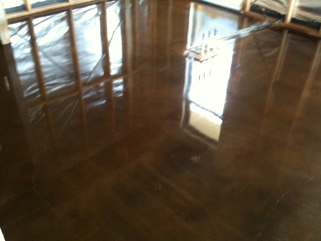 Dyed and Polished Concrete Mornington Victoria