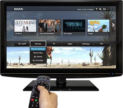 Fetch TV interface
