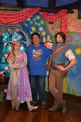 Meeting Rapunzel and Flynn Rider at the Tangled Meet-And-Greet (Loren Javier) Tags: california me disneyland disney anaheim rapunzel fantasyland tangled disneylandresort disneycharacters lorenjavier flynnrider tangledmeetandgreet