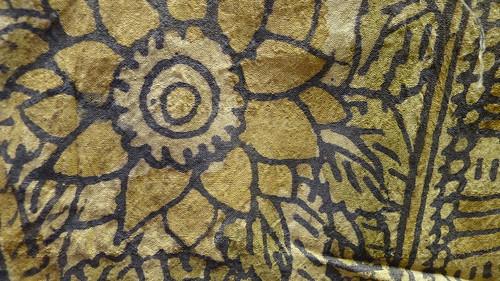 kalamkari - detail of radha's silk