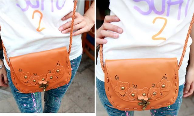VLS 011复古包2011新款韩版topshop花朵女包穿绳编织斜挎小包包180