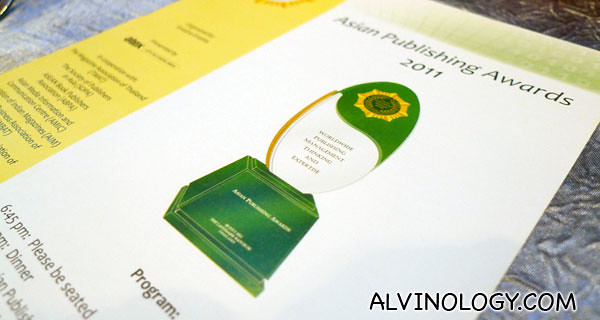 Asian Publishing Awards 2011
