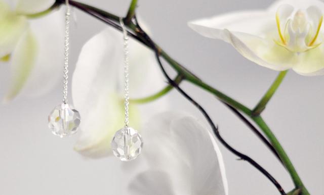 Crystal Ball Drop Earrings DIY +orchids