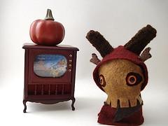 The Horned King Moon Bun (moons_creations) Tags: moon black rabbit bunny october king series amigurumi 31 cauldron bun horned moonbun