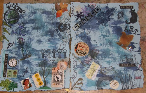 Art Journal #4 - Favorite Things Collage - In Progress 001