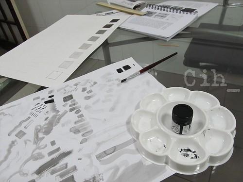 Treino em papel