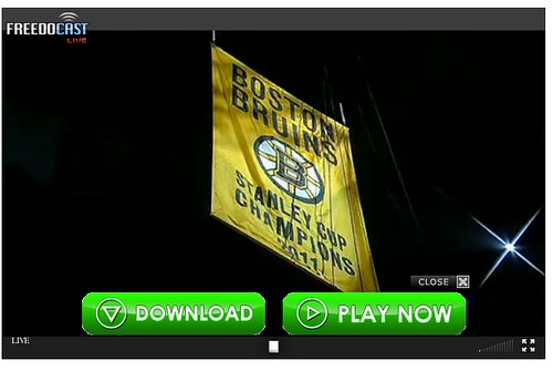 Boston Bruins banner raising screenshot, 10/6/2011 by mod as hell