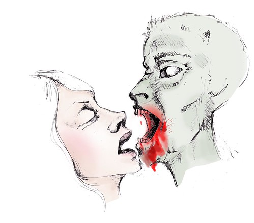 kiss or zombie bite by wickeddollz