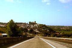 (delikz) Tags: road trip castle portugal nature car landscape photo europe image july roadtrip region ontheroad bidos estremadura insideacar 2011 1707 estremaduraregion