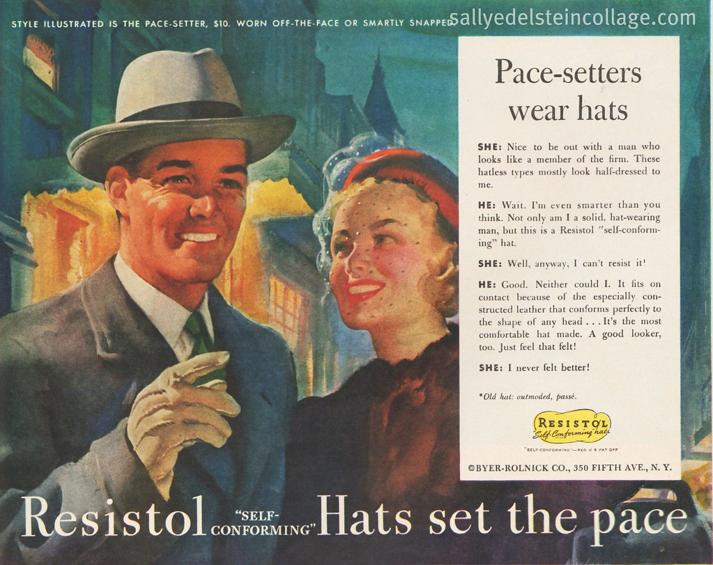 1948 Mens fashion Ad -Resistol Hats