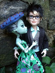Monster High Afternoon Tea - Frankie & Jackson (Nataloons) Tags: party paris fashion monster by high doll tea jackson frankie stein mattel jekyll louos souol frankiestein monsterhigh jacksonjekyll