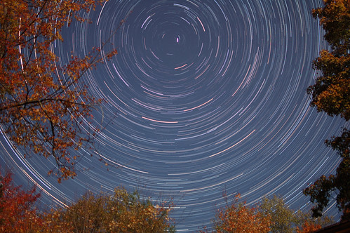 Startrails over the Autumn foliage