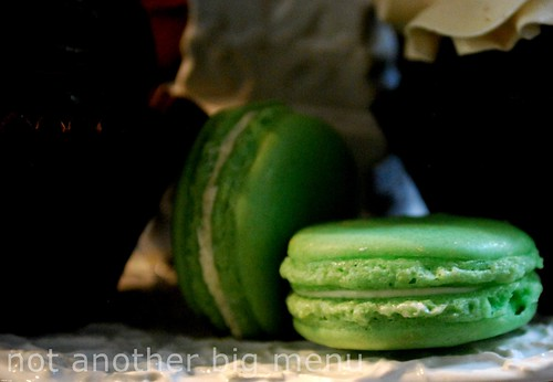 Bea's of Bloomsbury - Full Afternoon Tea £15 pperson - Green macaron