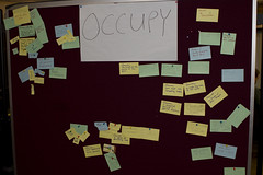 Cardboard Jam pitch board - OCCUPY